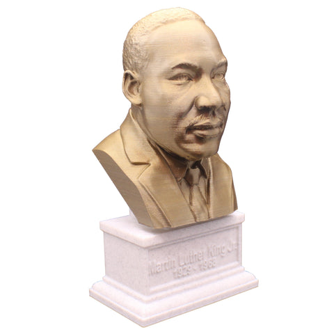 Martin Luther King Jr. Activist and Reform leader Sculpture Bust on Box Plinth