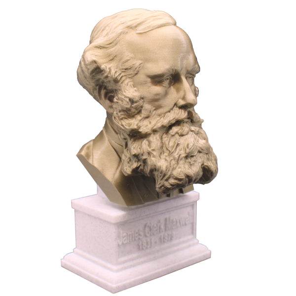 James Clerk Maxwell Famous Scottish Scientist Mathematical Physics Sculpture Bust on Box Plinth