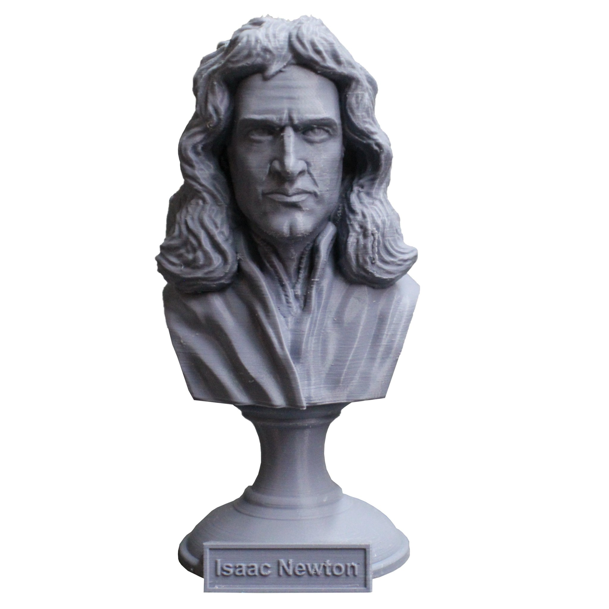 Isaac Newton Famous English Mathematician, Physicist and Astronomer Sculpture Bust on Pedestal