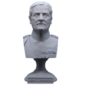 John Pershing Legendary US Army General and General of the Armies Sculpture Bust on Pedestal