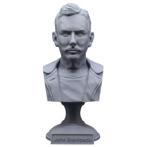 John Steinbeck American Author Sculpture Bust on Pedestal