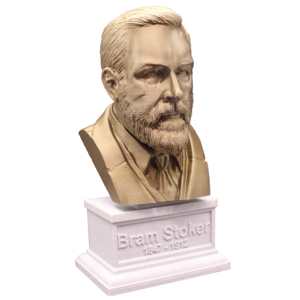 Bram Stoker, Famous Irish Writer, Sculpture Bust on Box Plinth