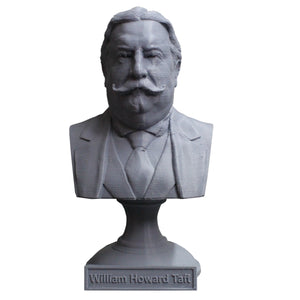 William Howard Taft, 27th US President, Sculpture Bust on Pedestal