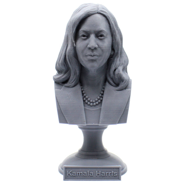 Kamala Harris, US Vice President Sculpture Bust on Pedestal