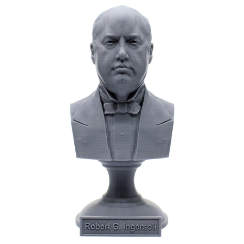 Robert G. Ingersoll Famous American Lawyer Sculpture Bust on Pedestal