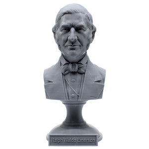 Ralph Waldo Emerson American Essayist, Lecturer, and Philosopher Sculpture Bust on Pedestal