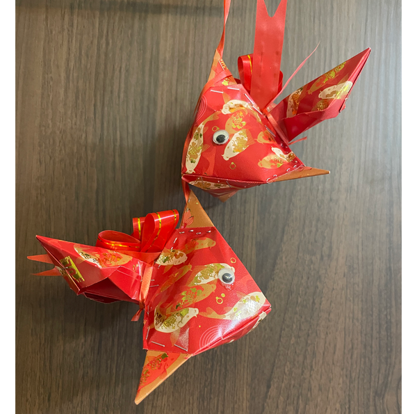 Handmade Angpow Fish Decoration (Medium Sized) - Design 4