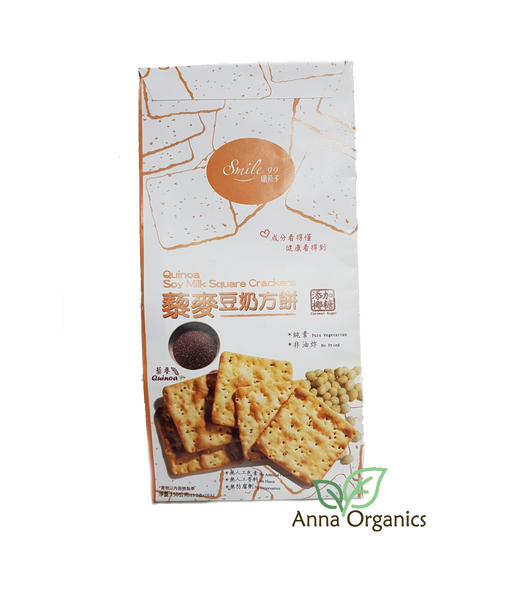 Quinoa Soy Milk Square Crackers [藜麦豆奶方饼] 150g