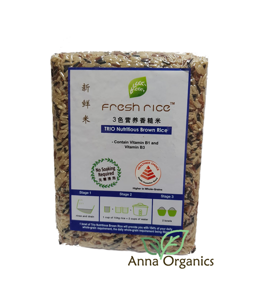 TRIO Nutritious Brown Rice [三色营养香糙米] 1kg