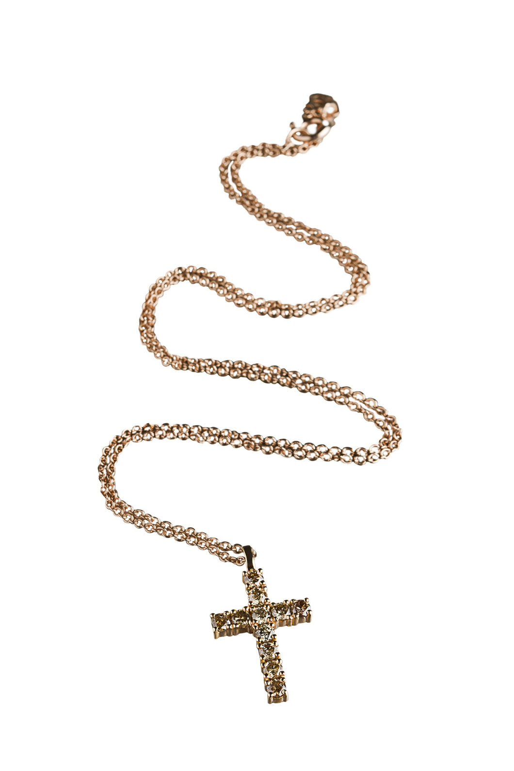 Catholic Cross Necklace Rose Gold