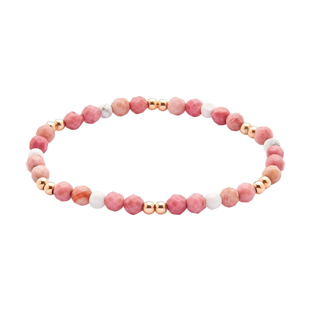 Energy bracelet - Pink and White