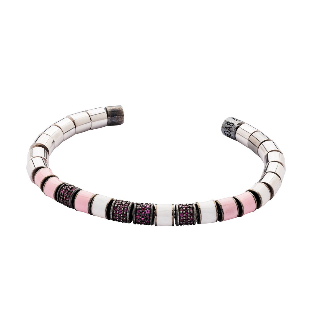 The Original Bracelet - White & Rubies
