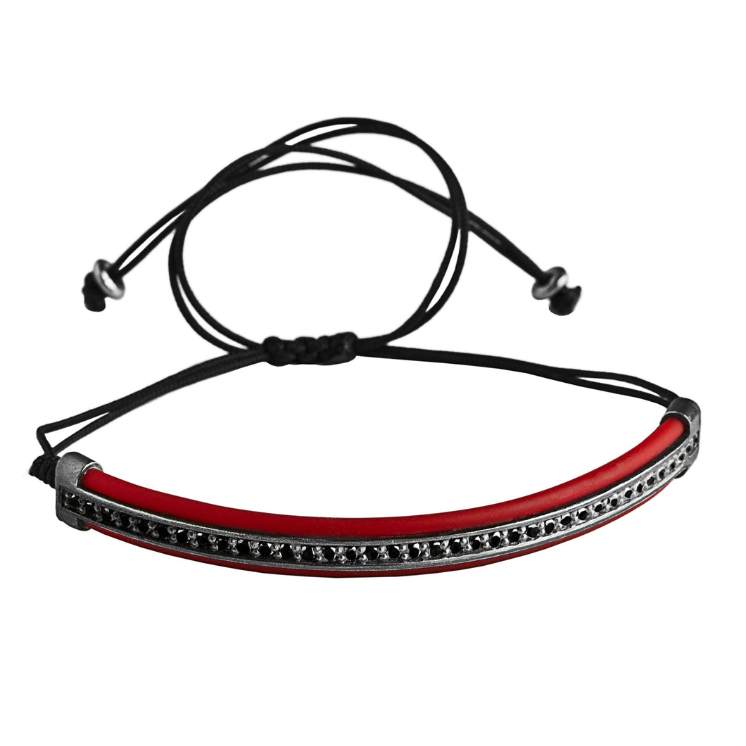 Protecting Riviere black & red - macrame