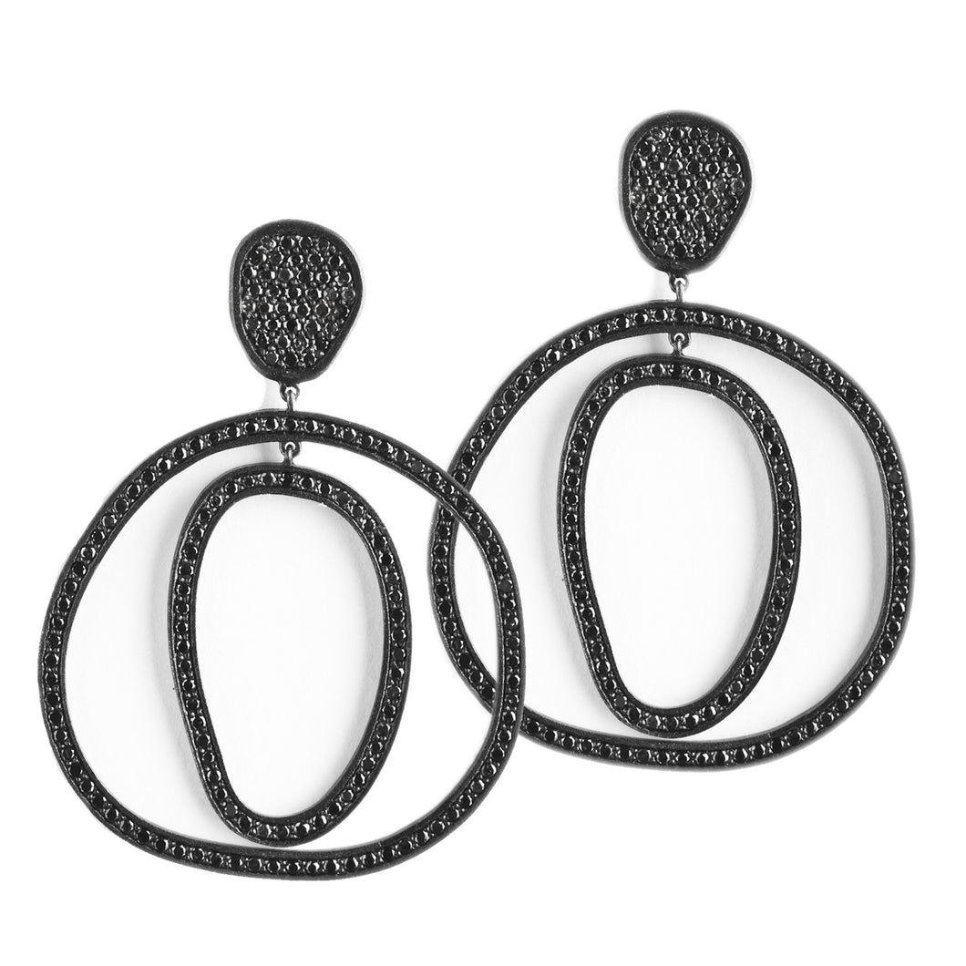 Haute irregular earrings - black