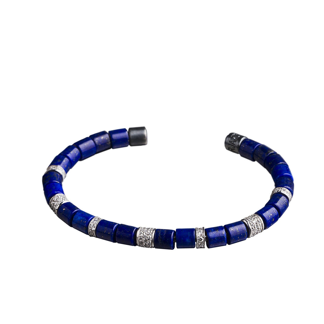 The Original Bracelet - White & Lapis Lazuli