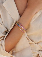 Load image into Gallery viewer, Rainbow riviere bracelet