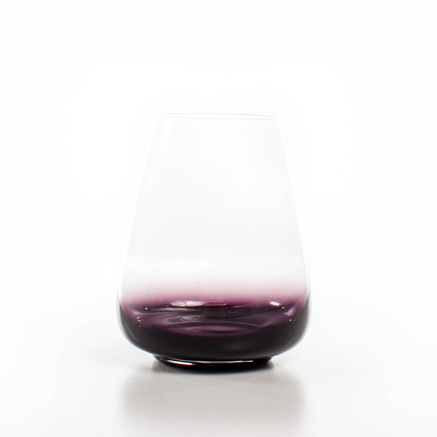 Stemless Black Swan Wine Glass