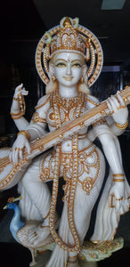 Superfine Saraswati made of stone (Only 1 in world)