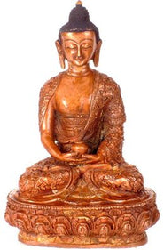 Tibetan Buddhist Deity Amitabha Buddha with Deftly Carved Robe