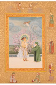Prince Shahjahan Accepts a Wreath of Jewels from a Sufi