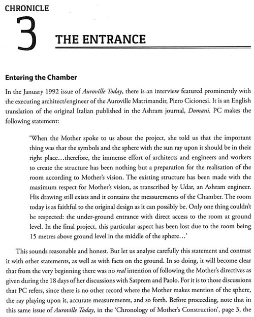 Chronicles of The Inner Chamber (Revealing the Profound Keys of Knowledge contained in the Mother's Vision of Her Temple, the Matrimandir)