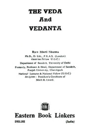 The Veda and Vedanta (An Old and Rare Book)