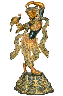 Apsara with Peacock Applying Vermillion