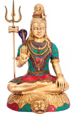 Blessing Lord Shiva (Large Size)