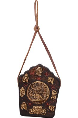 Made in Nepal - Tibetan Buddhist Motifs Wall Hanging Plate