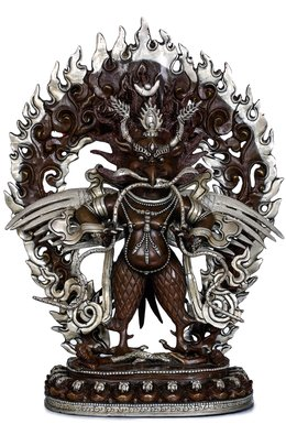(Made in Nepal) Standing Garuda With Wings Strechted Out - Tibetan Buddhist