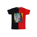 SS Split T-Shirt (Blk/Red)
