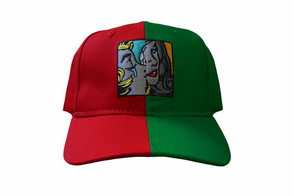 SS Split Dad Hat (Red/ Green)