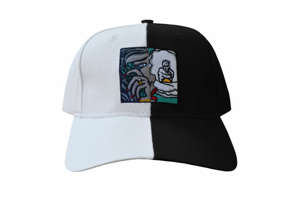 SS Split Dad Hat (Wht/ Blk)