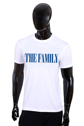 """The Family"" Classic T-Shirt (White/Blue)"
