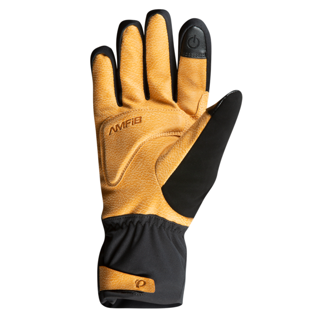 Women's Tan Leather Gel Winter Cycling Gloves Touchscreen