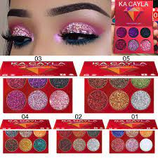 Palette Cosmetics 6 Glitter Colors Eyeshadow Beauty Make up