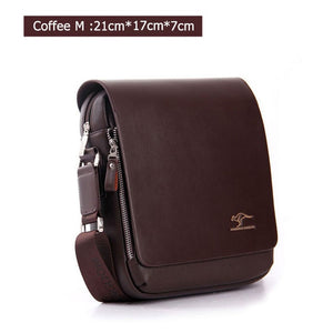 Fashion Brand Men's Messenger Bags Quality PU Leather Shoulder Bag Crossbody
