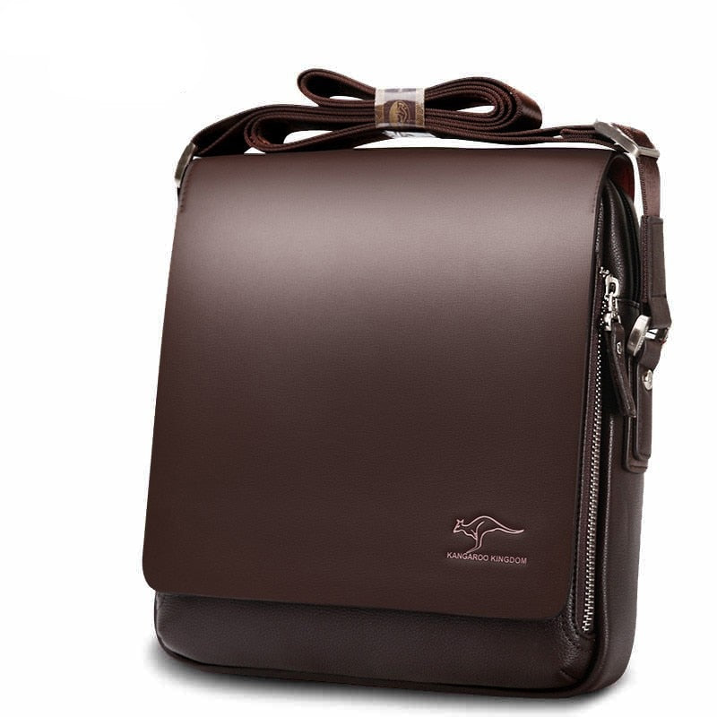 Fashion Brand Men's Messenger Bags Quality PU Leather Shoulder Bag Crossbody.