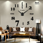 Load image into Gallery viewer, 2020 new Home decoration big mirror wall clock modern design 3D
