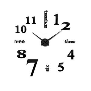 2020 new Home decoration big mirror wall clock modern design 3D