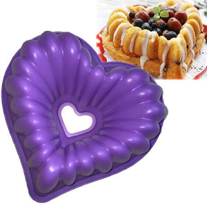 1pc Love Heart Shape Cake Mold Silicone Freezing and Baking Molds