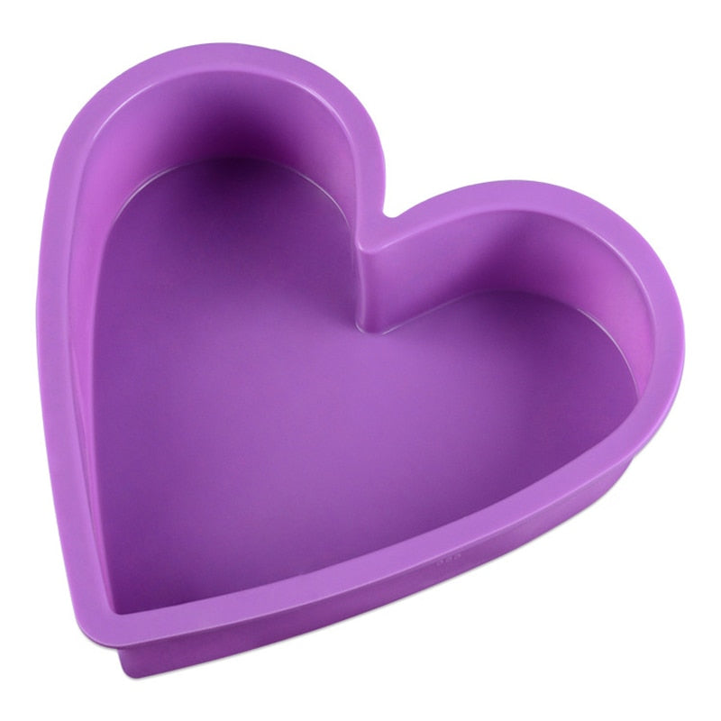 Heart Shape Cake Mold Durable Silicone Baking Tool