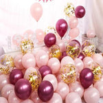 Load image into Gallery viewer, 20pcs 10inch Transparent Rose, Gold, Silver Mixed Colors Perfect for your Party Decoration
