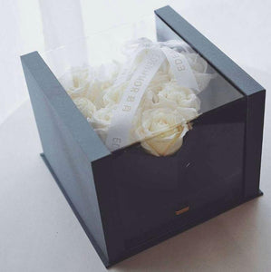 Flowers Gift Box with Artificial Rose Flowers, Perfect for your Love Gift , Mother's Day