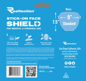 25 Flat Envelope Pack of Reeflection® Face Shields