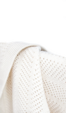 Load image into Gallery viewer, Cream Cashmere Baby Blanket Close Up