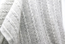 Load image into Gallery viewer, cashmere cable knit blanket