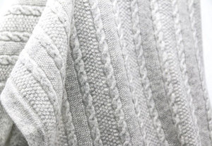 Cashmere Cable Knit Blanket