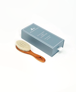olivewood natural goat hair baby brush