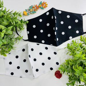 Maskforme.in Black / White Polka ( Set of 2 )